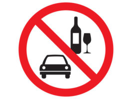 No drink and drive vector sign isolated on white background.